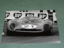 "FERRARI 330P4 Scarfiotti/Parkes Le Mans 1967. 10x8"" photo by Dave Friedman"